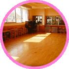 大橋保育園、乳幼児食事室・一時預り室